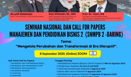 Seminar Nasional Manajemen dan Pendidikan Bisnis (SNMPB) 2