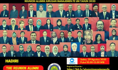 Reuni Alumni Jurusan Manajemen Fakultas Ekonomi Tahun 2020