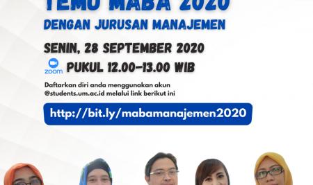 Temu Maba 2020 Jurusan Manajemen FE UM