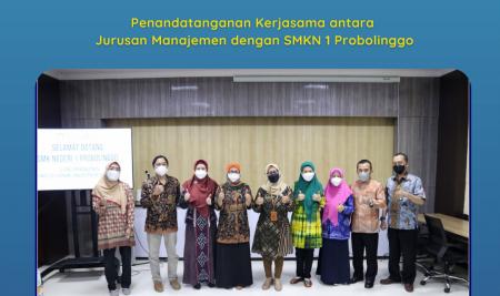 Jurusan Manajemen  Menandatangani Kerjasama dengan SMK Negeri 1 Probolinggo